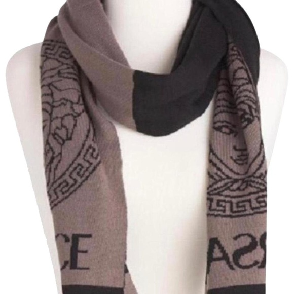 ba5d2cf63 Versace Black Brown Wool Long Scarf Wrap. NWT. Versace.  M_5b94db756a0bb75d6ed90823. M_5b94db74df0307e93933fbbe.  M_5b94db7634a4eff7a2e8a0bf